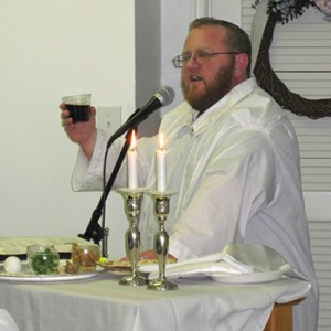 Photo: Rabbi Robert at Passover.